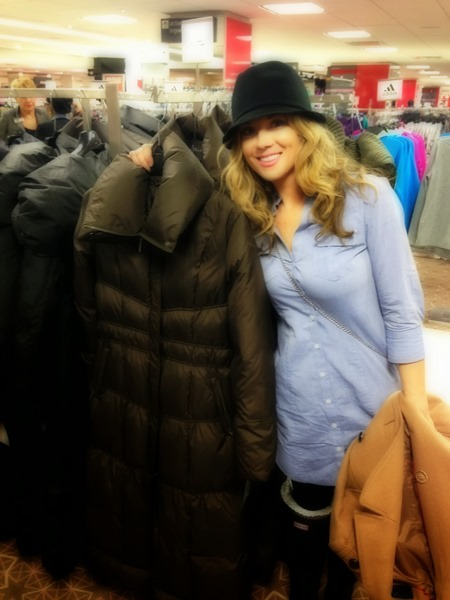 Despite the cold weather....I didn't buy the infamous Sleeping Bag coat :)
