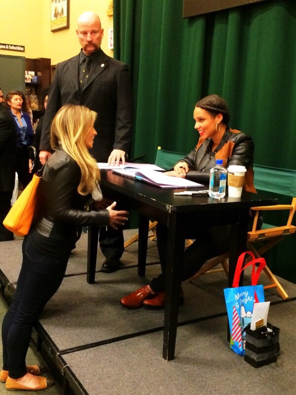 Here I am telling Alicia Keys I'm from the Great Smoky  Mountains :)
