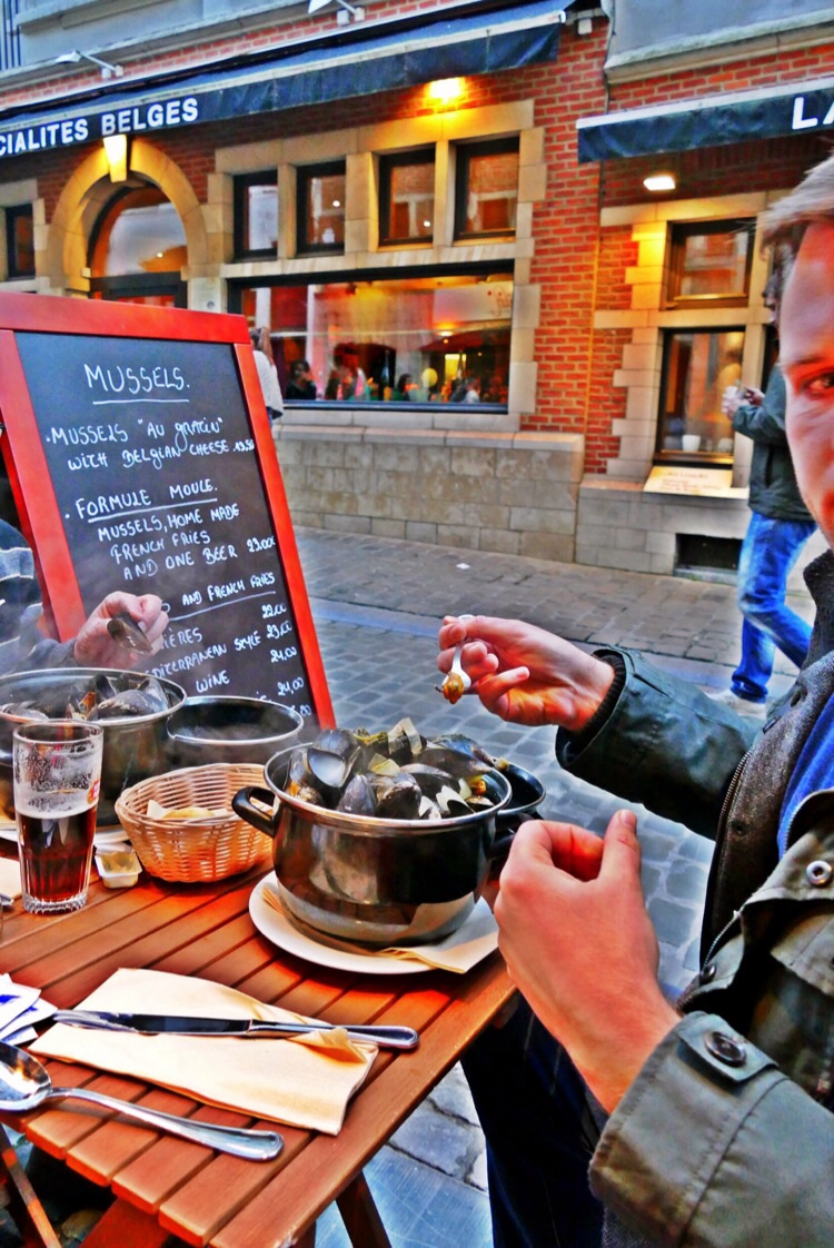 Enjoying 'Mussels in Brussels'